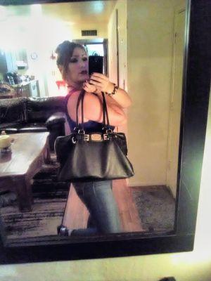 MICHAEL KORS Black Textured Genuine Leather Slouchy Large Satchel Shoulder Bag Tote Purse Handbag for Sale in Phoenix, AZ