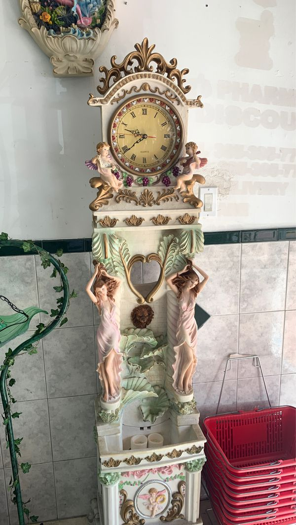 Renaissance Period Angel Fountain with Clock