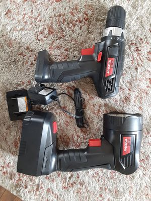 Drill master drill and flashlight with new battery and charger for Sale in Avilla, IN