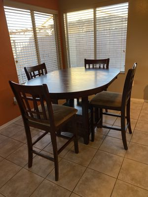Kitchen table with storage and chairs for Sale in Scottsdale, AZ