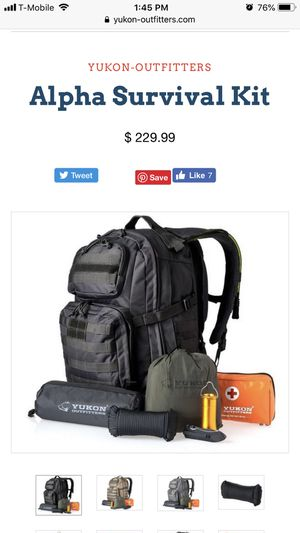 Yukon Outfitters Backpack - Alpha Survival Kit for Sale in Gilbert, AZ