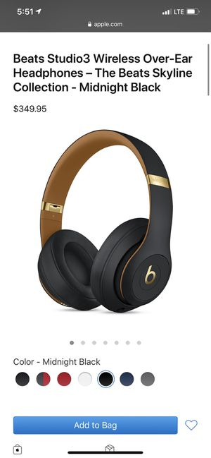 Beats Studio3 Wireless Over-Ear Headphones – The Beats Skyline Collection - Midnight Black for Sale in Lynnwood, WA