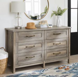 6 drawer dresser - Rustic grey - New for Sale in Taylor, MI