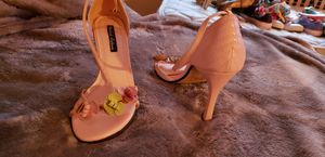 Pink heel sandals for Sale in Greenwich, CT