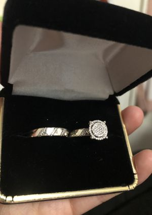 Engagement & Wedding ring duo 14k white gold for Sale in Los Angeles, CA