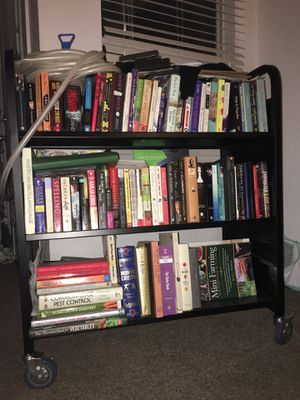Bookcase/Library Cart for Sale in Tulsa, OK