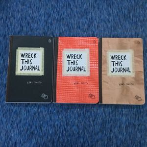 Wreck This Journal-black,red,light brown for Sale in Brainerd, MN