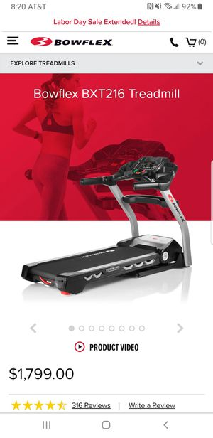Bowflex BXT216 Treadmill 11 Pre-Programmed Workouts for Sale in Industry, CA