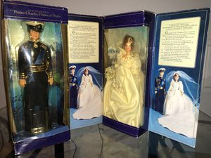 Rare Antique Princess Diana & Charles Royal Wedding Dolls from 1982 for Sale in Ashburn, VA