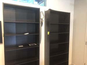 Tall Black Bookshelf, pair or individual for Sale in Los Angeles, CA