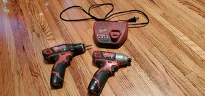 Milwaukee drill and impact gun for Sale in Joliet, IL