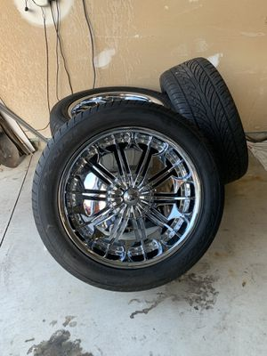 Chrome rims with tires... for Sale in Romulus, MI