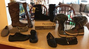 Women Converse, Toms. Boots, Snow Boots, Bear Paw, etc Size 7 and 7 1/2 for Sale in East Saint Louis, IL