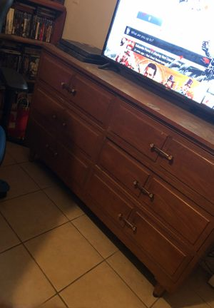 Solid wood antique dresser needs a little wood cleaner for Sale in Fontana, CA
