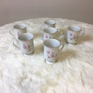 Vintage Royal Domino Twilight Rose Set Of 6 Footed Mugs S936158G2 for Sale in Mount Ulla, NC