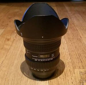 TOKINA 11-16mm f/2.8 NIKON MOUNT DSLR WIDE ANGLE CAMERA LENS for Sale in Germantown, MD
