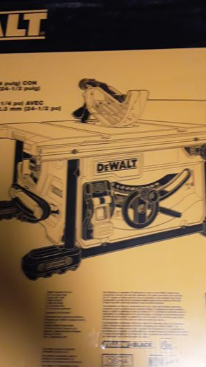 DWE7485 dewalt table saw price is firm for Sale in Tacoma, WA