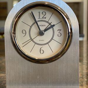 Linden Silver Desk Clock with Alarm for Sale in Phoenix, AZ