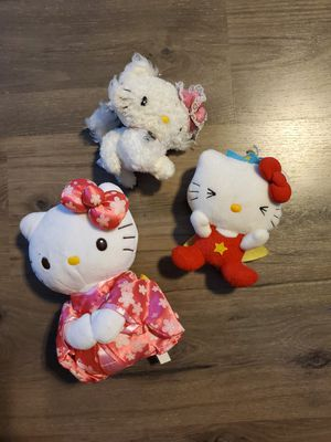 3 Hello Kitty plushies for Sale in Ocala, FL