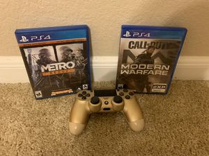 2 games 1 controller for PS4 for Sale in Katy, TX