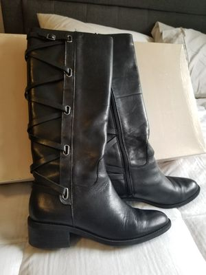 BCBG Black leather boots in great condition for Sale in La Mirada, CA