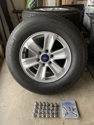 F-150 tires, rims & locking lugs with key. for Sale in Spring Hill, FL