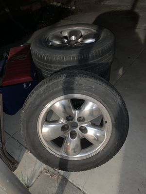 """20"""" tires 275/60 R20 dodge rims wheels for Sale in Antioch, CA"""