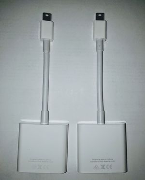 2 Mini DisplayPort to DVI Adapter A1305 White Pre-owned for Sale in Annandale, VA