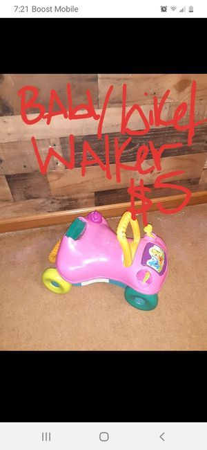 Baby bike/Walker good condition for Sale in Saint Thomas, PA
