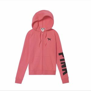 VS Pink Full Zip Hoodie Everyday Sweatshirt Small or Medium for Sale in North Olmsted, OH