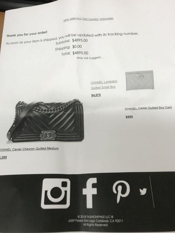 Chanel medium boy bag in caviar leather