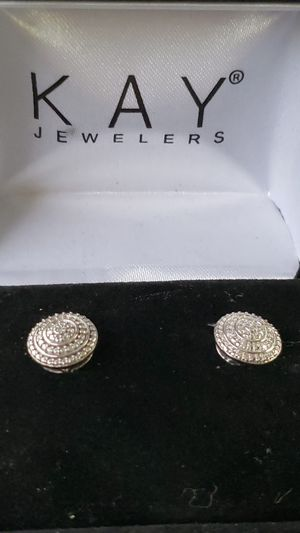 Sterling Siver Round Cut Earrings for Sale in Oakland, CA