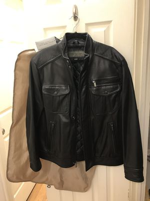 Butter Soft Motorcycle Leather Jacket by Andrew Marc for Sale in New York, NY