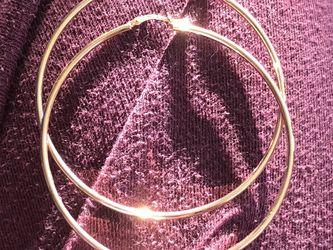 14k gold hoop earrings for Sale in Sacramento,  CA