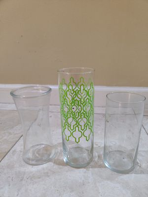 3 vases for flowers for Sale in Houston, TX