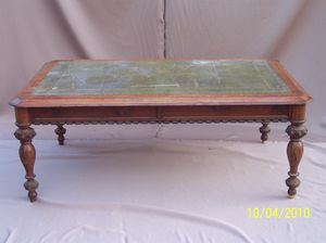 Antique leather inlay table for Sale in Seattle, WA
