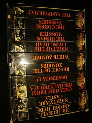 10 vhs box set Horror Classics for Sale in Dallas, TX