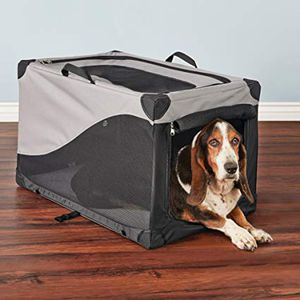 you&me lightweight portable canvas crate for medium sized dogs for Sale in Jacksonville, FL