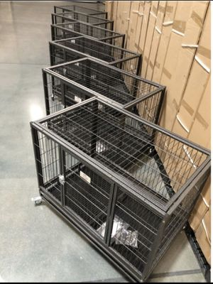 """All New 6 HOMEY set-37"""" Stackable Heavy Duty Dog Cage kennel , Casters and Tray🐶 see dimensions for each cage in second picture 🐶 End of summer Sale for Sale in Avondale, AZ"""