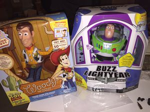 Disney Toy story buzz light year Woody Signature Collection for Sale in Cedarville, NJ