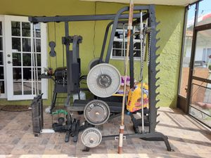 Smith machine weight set for Sale in Miami, FL