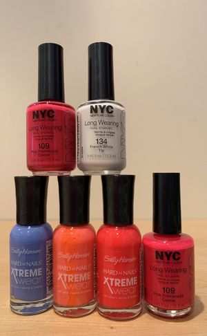 Sally Hansen and NYC nail polish - chose any 3 for $5 for Sale in Alexandria, VA