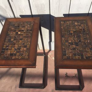 Two Side Tables In Good Condition Dimension tall 27 inches wide 18 x 12 inches for Sale in Fresno, CA