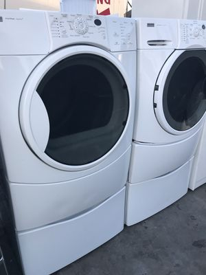 WHITE FRONTLOAD WASHER AND DRYER KENMORE SET SAME DAY DELIVERY for Sale in La Habra, CA