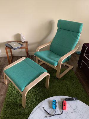 IKEA POANG Armchair + Ottoman for Sale in Seattle, WA