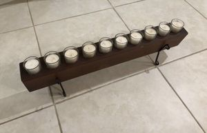 """10 candle holder 8 1/2"""" tall 27 1/2"""" long for Sale in Wesley Chapel, FL"""