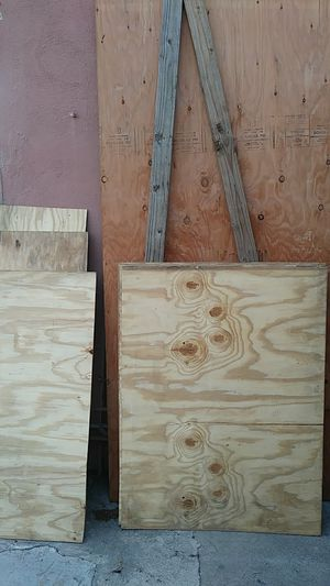 4x8 sheet of 3/4 pressure treated fire guard builder grade two 8ft 2×4s and 5 sheets of 3ft x5ft half in. Buider grafe plywood for Sale in La Verne, CA