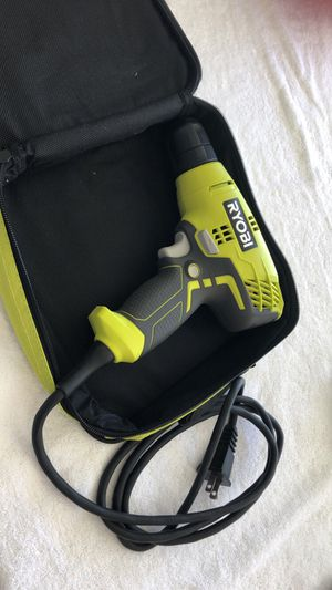 RYOBI 5.5 Amp Corded 3/8 in. Variable Speed Compact Drill/Driver with Bag for Sale in Lake Los Angeles, CA