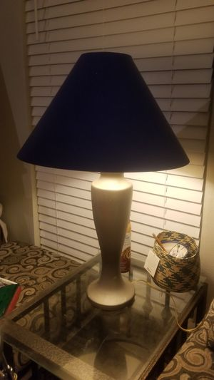 Lamp, grey and blue for Sale in Austin, TX