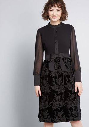 NWT anna sui Black enigmatic mood Aline dress for Sale in Herndon, VA